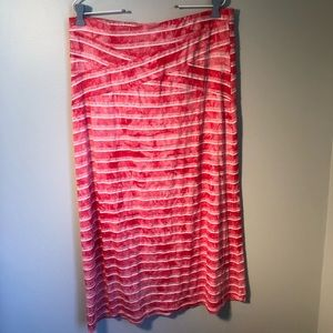 Live & Let Live Red & White Maxi Skirt